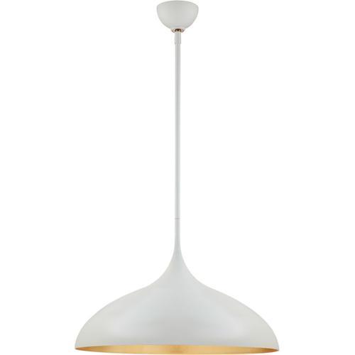 AERIN Agnes 1 Light 21 inch Plaster White Pendant Ceiling Light, Large