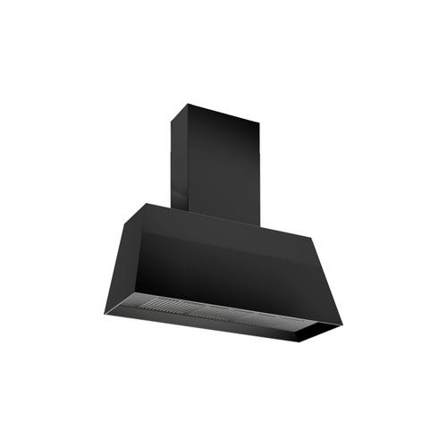 36'' Contemporary Canopy Hood, 1 motor 600 CFM Matt Black