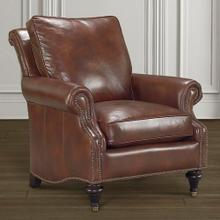 Oxford Leather Accent Chair