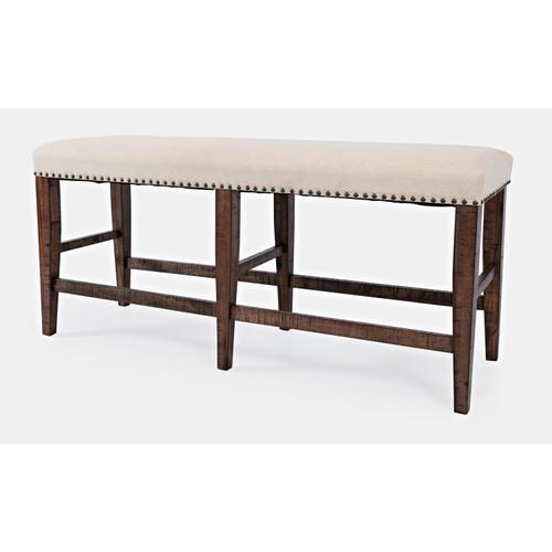 Fairview Oak Backless Counter Bench