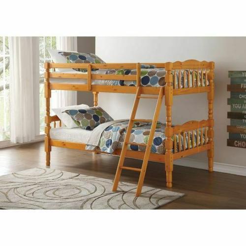 ACME Homestead T/T Bunk Bed - HB/FB - 02301 - Honey Oak