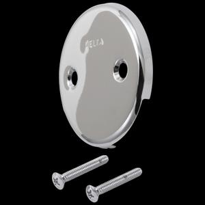 Chrome Overflow Plate & Screws - No Trip Lever Product Image