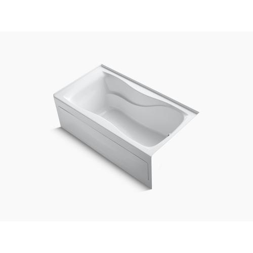 """White 60"""" X 32"""" Alcove Bath With Integral Apron, Integral Flange and Right-hand Drain"""