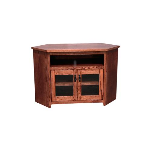 "O-M243 Mission Oak 55"" Corner TV Console"