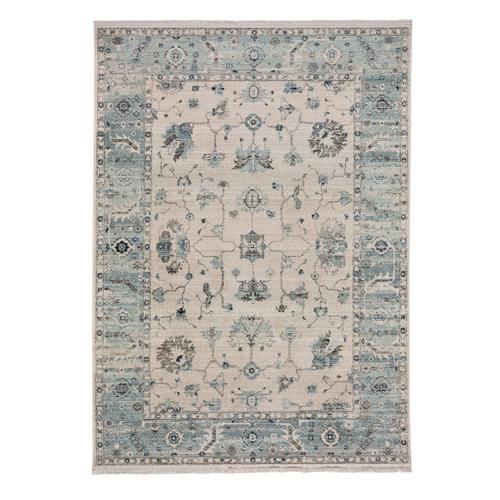 Landis-Ushak Ivory Blue Machine Woven Rugs