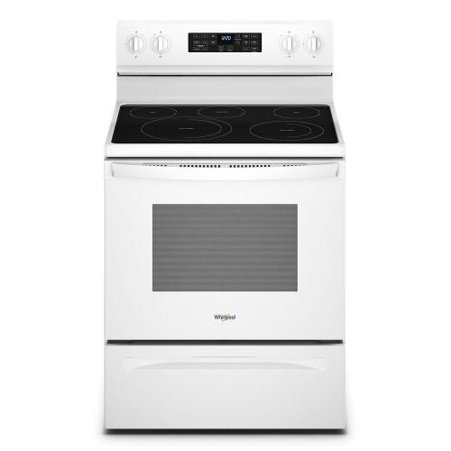 Whirlpool - 5.3 Cu. Ft. Whirlpool® Electric 5-in-1 Air Fry Oven