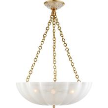 AERIN Rosehill 4 Light 21 inch Hand-Rubbed Antique Brass Chandelier Ceiling Light, Large