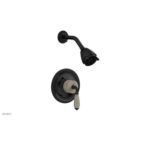 VALENCIA Pressure Balance Shower Set PB3338D - Gloss Black