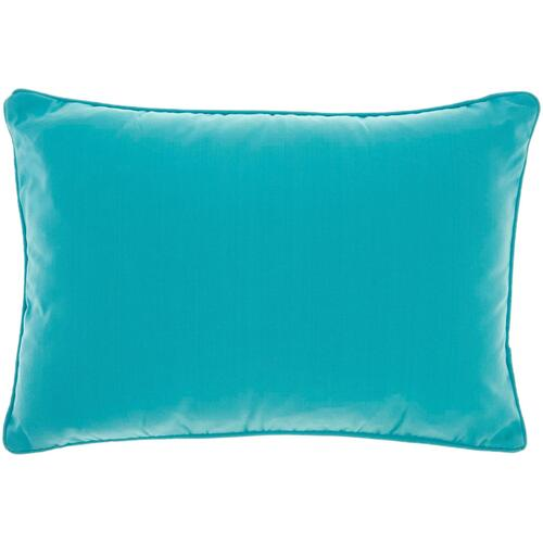 "Outdoor Pillows L9090 Turquoise 14"" X 20"" Throw Pillow"
