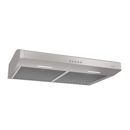 Broan® Corteo 30-Inch Convertible Under-Cabinet Range Hood, 375 Max Blower CFM, Stainless Steel