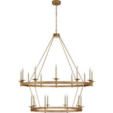 View Product - Chapman & Myers Launceton 20 Light 53 inch Antique-Burnished Brass Two Tiered Chandelier Ceiling Light, Grande