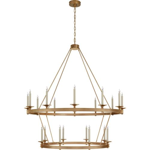 Visual Comfort - Chapman & Myers Launceton 20 Light 53 inch Antique-Burnished Brass Two Tiered Chandelier Ceiling Light, Grande