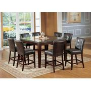 ACME Danville Counter Height Table - 07059 - Black Marble & Walnut Product Image