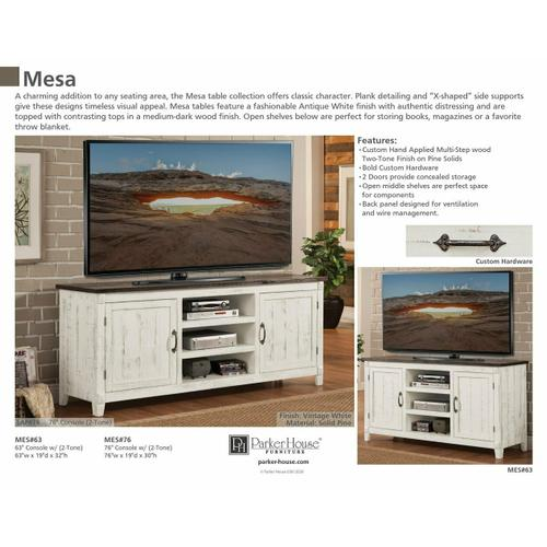 MESA 76 in. TV Console with two tone finish