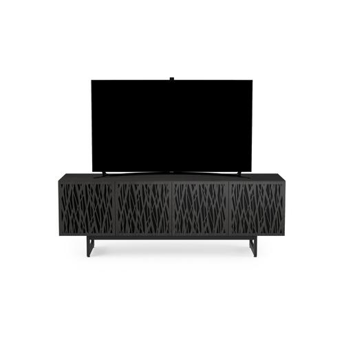 BDI Furniture - Elements 8779 Media Media Cabinet in Wheat Doors Charcoal Stained Ash