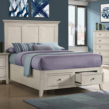 San Mateo Full Bed  Rustic White
