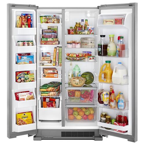 36-inch Wide Side-by-Side Refrigerator - 25 cu. ft. Fingerprint Resistant Stainless Steel