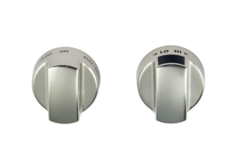 WolfInduction Range Stainless Steel Knobs