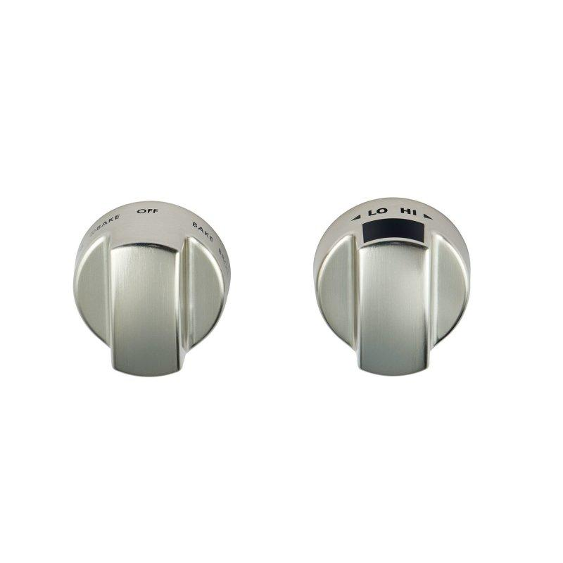Induction Range Stainless Steel Knobs