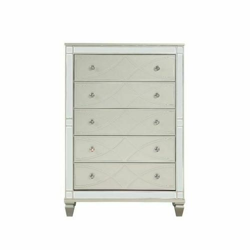 ACME Marcellus Chest - 22186 - Glam - Wood (Pine), MDF, Ply - Silver