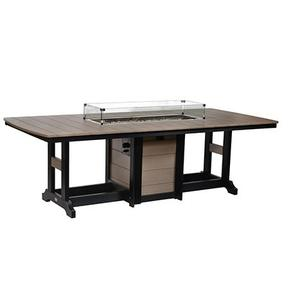 "44"" x 96"" Rectangular Fire Dining Table"
