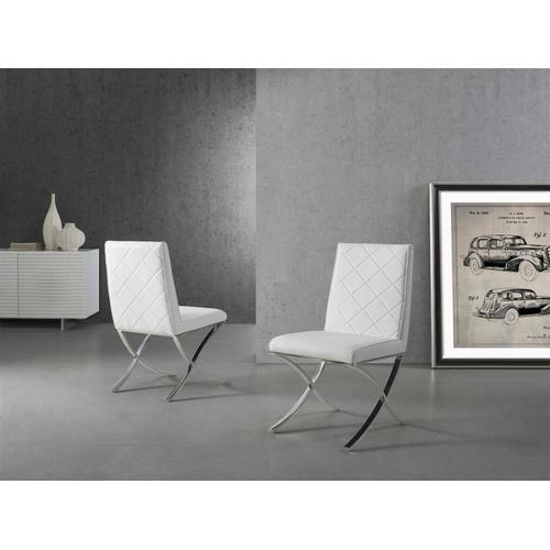 The Loft White Eco-leather Dining Chairs
