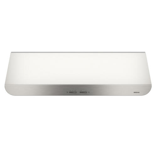 Broan® 30-Inch Convertible Under-Cabinet Range Hood, 400 CFM, Stainless Steel