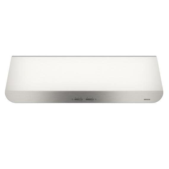 Broan® 30-Inch Convertible Under-Cabinet Range Hood, 400 CFM, Stainless Steel