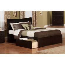 Soho Queen Flat Panel Foot Board with 2 Urban Bed Drawers Espresso