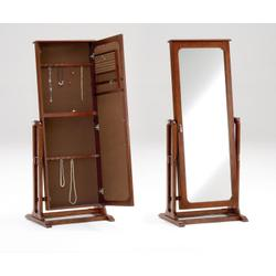 Cherry Cheval Mirror Jewelry Armoire