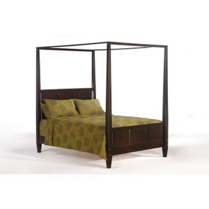 Laurel Bed in Dark Chocolate Finish