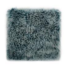 See Details - Lamb Fur Pillow Large Teal Snow