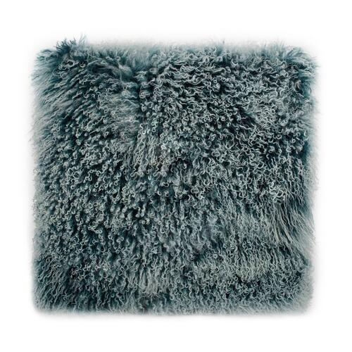 Moe's Home Collection - Lamb Fur Pillow Large Teal Snow
