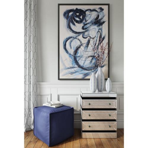 Howard Elliott - Blue and White Chevron Ceramic Vase Set