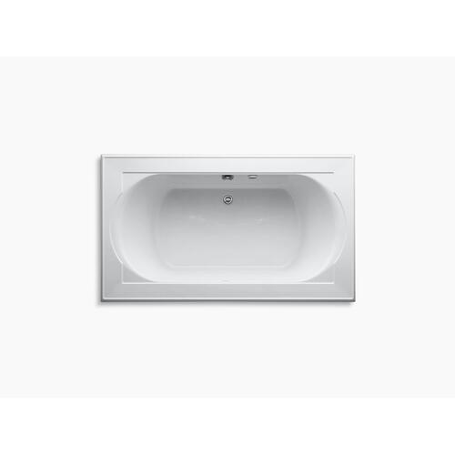 "Dune 72"" X 42"" Drop-in Bath With Bask Heated Surface and Reversible Drain"