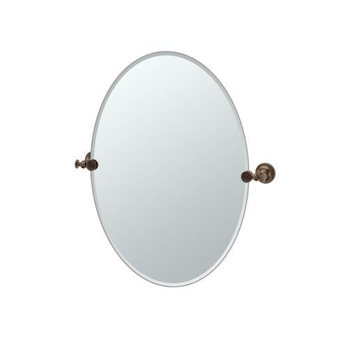 Tavern Oval Mirror in Bronze