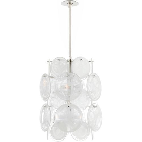 Visual Comfort - AERIN Loire 6 Light 20 inch Polished Nickel Barrel Chandelier Ceiling Light, Medium