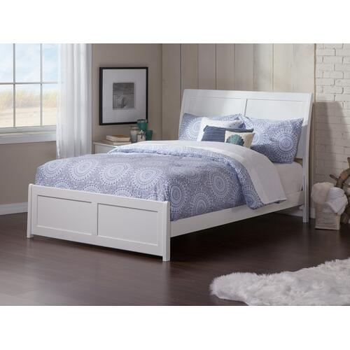 Portland Full Bed with Matching Foot Board in White
