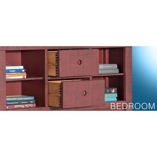 Ranch House Twin Captains Bookcase Storage Bed