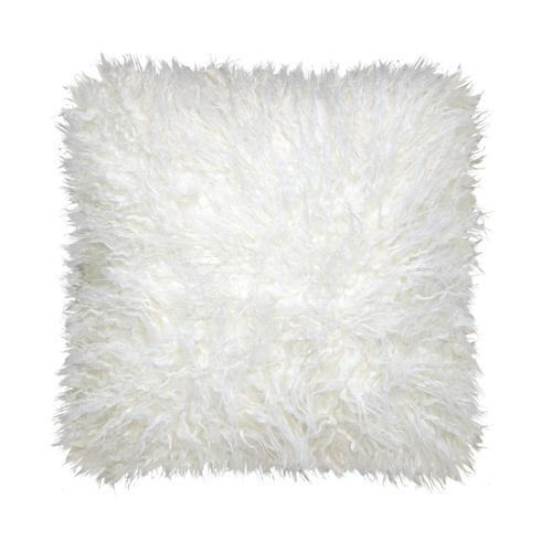 Mongolian Fur Cushion - Beige / 100% Polyester