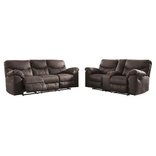Ashley Furniture - Boxberg Reclining Sofa & Console Teak
