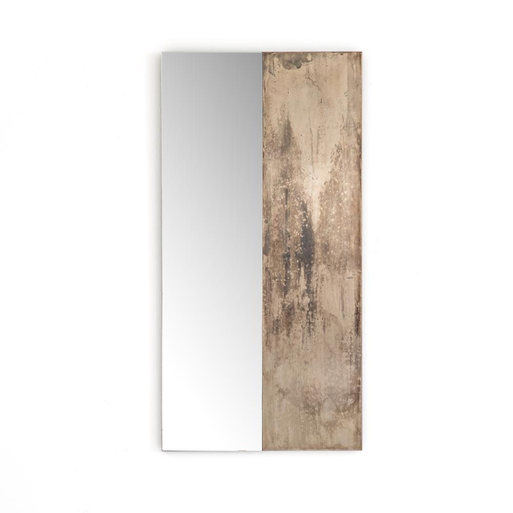 Antique Nickel Finish Beaufort Mirror