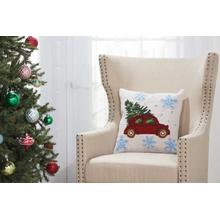 "Home for the Holiday Yx108 Multicolor 18"" X 18"" Throw Pillow"