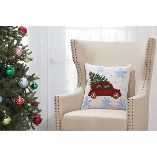 """Home for the Holiday Yx108 Multicolor 18"""" X 18"""" Throw Pillow"""