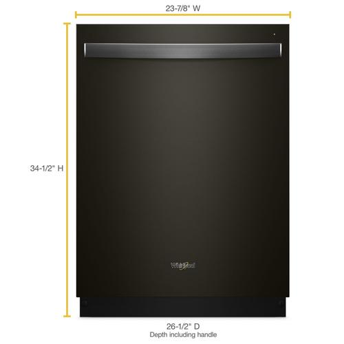 Whirlpool - Stainless Steel Tub Dishwasher with Third Level Rack Fingerprint Resistant Black Stainless