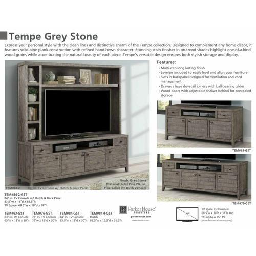 TEMPE - GREY STONE 76 in. TV Console