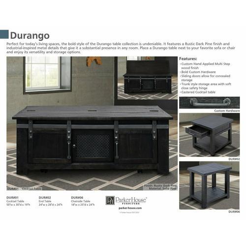 Parker House - DURANGO Chairside Table