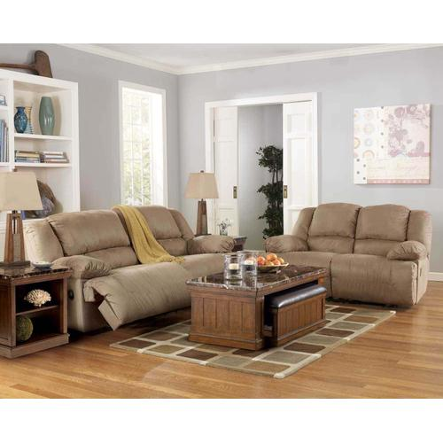 Ashley 578 Hogan Mocha Reclining Sofa and Love