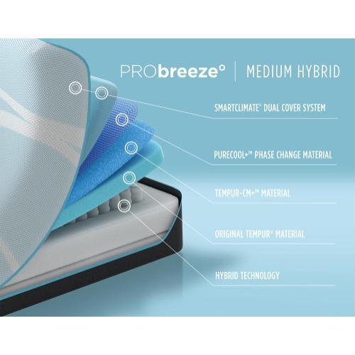 Tempur-Breeze - TEMPUR-breeze - PRObreeze - Medium Hybrid - Cal King