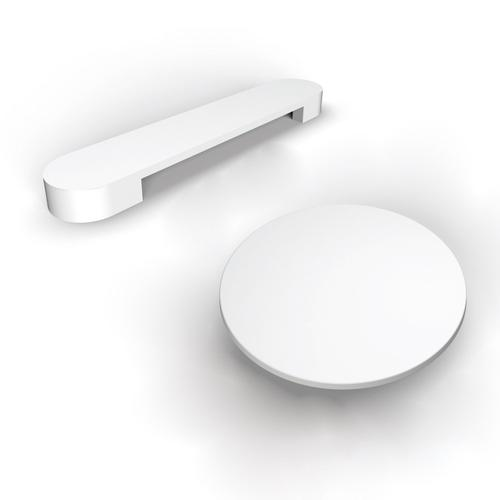 """Saxton 70"""" Acrylic Tub with Integral Drain and Overflow - White Powder Coat Drain and Overflow"""